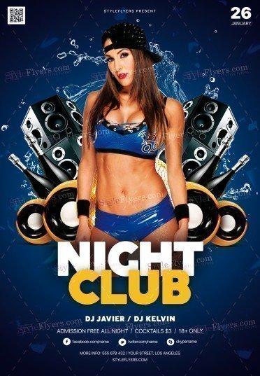 Night Club PSD Flyer Template