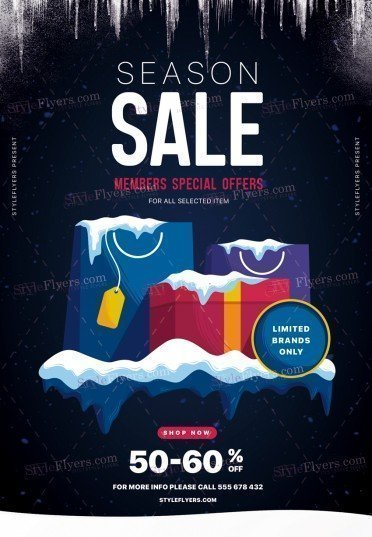 Season Sale PSD Flyer Template