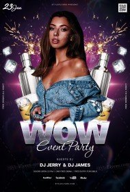 WOW Event Party PSD Flyer Template