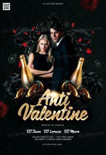 Anti Valentine PSD Flyer Template