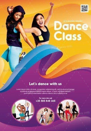 Dance Class PSD Flyer Template