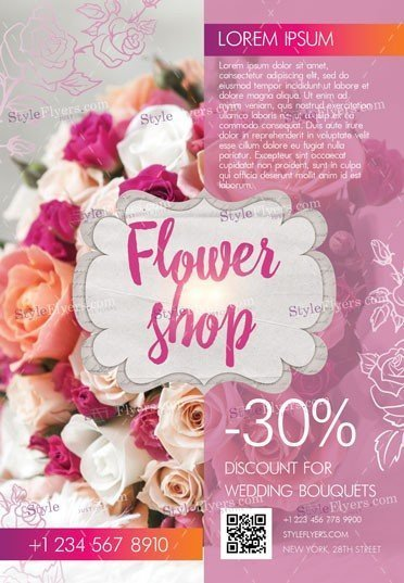 Flower Shop PSD Flyer Template