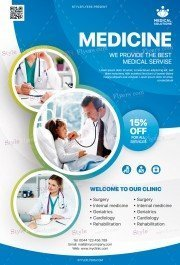 Medical Care PSD Flyer Template