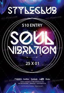 Soul Vibration PSD Flyer Template