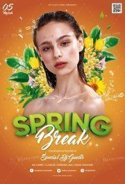 Spring Break PSD Flyer Template