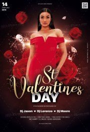 St Valentine's Day PSD Flyer Tmplate