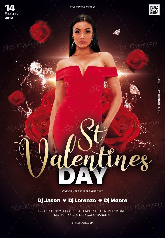 St Valentine's Day PSD Flyer Tmplate