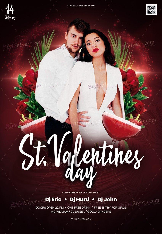 St. Valentine's Day PSD Flyer Template
