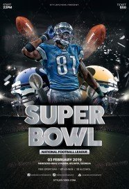 Super Bowl PSD Flyer Template