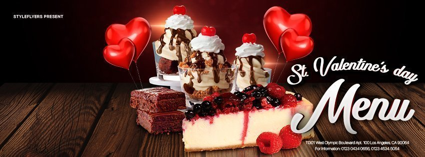 facebook_prev_St. Valentine's day menu_psd_flyer