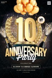 Anniversary PSD Flyer Template