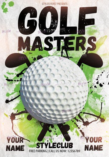 Golf Masters PSD Flyer Template