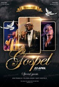 Gospel PSD Flyer Template