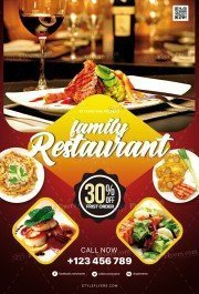 Restaurant PSD Flyer Template