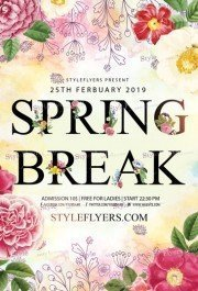 Spring Break PSD Flyer Template