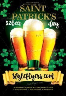 St Patrick Day PSD Flyer Template