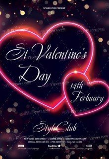 St Valentine's Day PSD Flyer Template