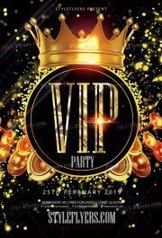 VIP PSD Flyer Template