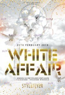 White Affair PSD Flyer Template