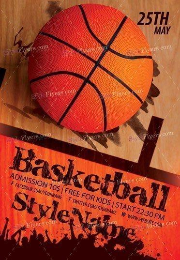 Basketball Flyer PSD Template