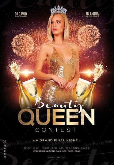 Beauty Queen Contest PSD Flyer Template