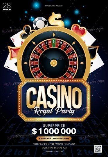 Casino PSD Flyer Template