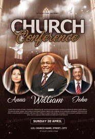 Church Conference PSD Flyer Template