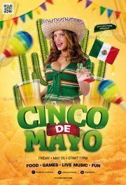 Cinco De Mayo PSD Flyer Template
