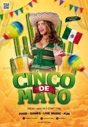 Cinco De Mayo PSD Flyer Template