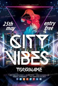 City Vibes PSD Flyer Template