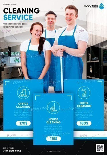 Cleaning Service PSD Flyer Template