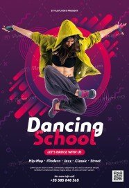 Dancing School PSD Flyer Template