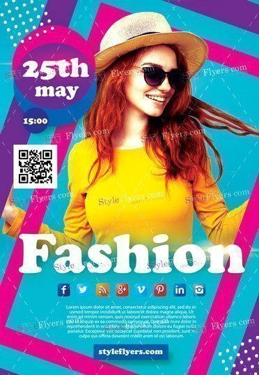 Fashion Flyer PSD Flye Template