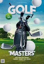 Golf 'Masters' PSD Flyer Template