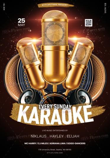 Karaoke PSD Flyer Template