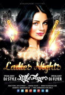 Ladies Flyer PSD Tmeplate