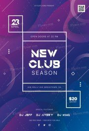 New Club Season PSD Flyer Template