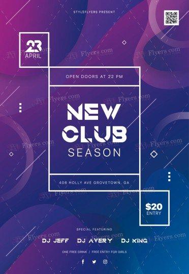 New Club Season PSD Flyer Template