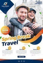 Spring Break Travel PSD Flyer Template