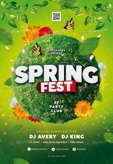 Spring Fest PSD Flyer Template