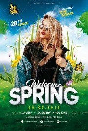 Spring PSD Flyer Template