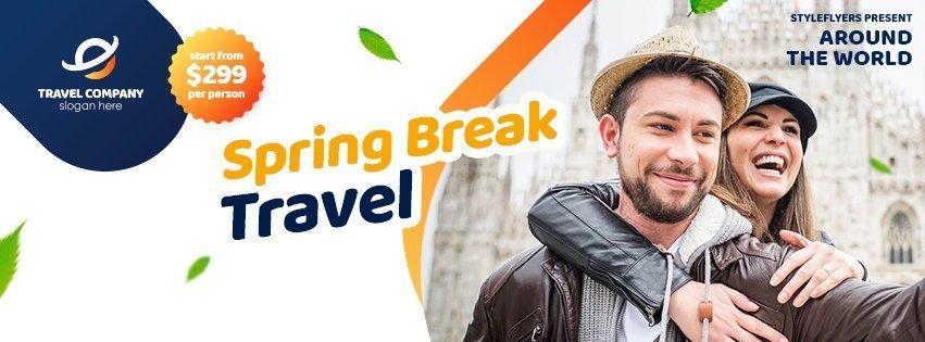 facebook_prev_spring break travel_psd_flyer