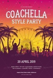 Сoachela Style Party PSD Flyer Template