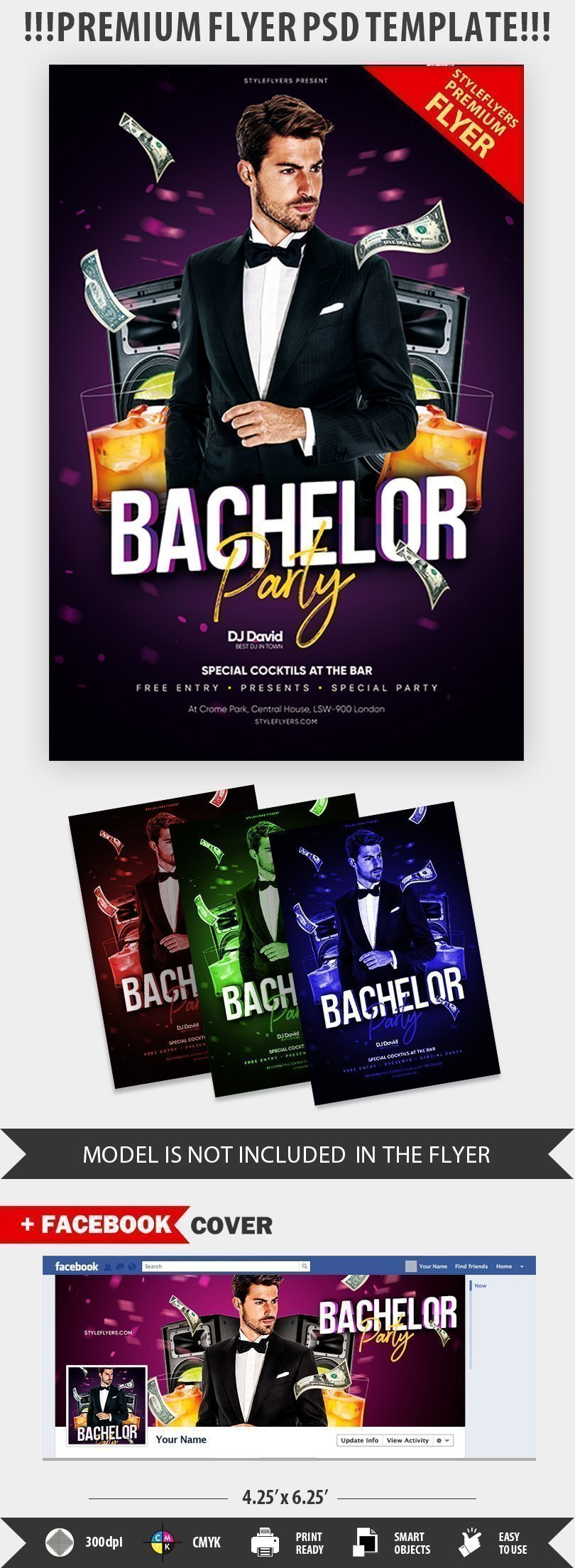 Bachelor Party PSD Flyer Template (3)