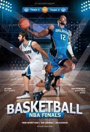 Basketball NBA Finals PSD Flyer Template