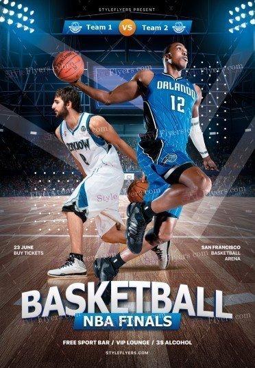 Basketball NBA Finals PSD Flyer Template