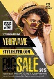 Big Sale PSD Flyer Template