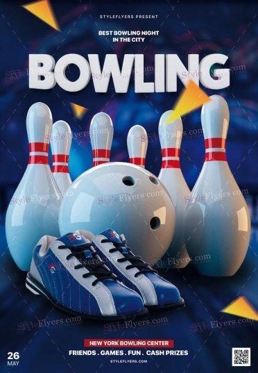 Bowling PSD Flyer Template