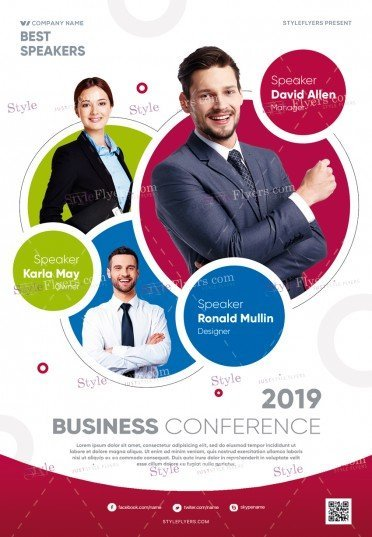 Conference PSD Flyer Template