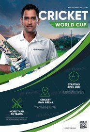 Cricket World Cup PSD Flyer Template